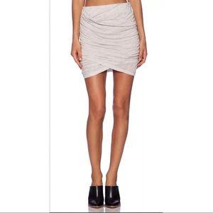 IRO Gwen Mini Skirt Jersey Ruching Size L